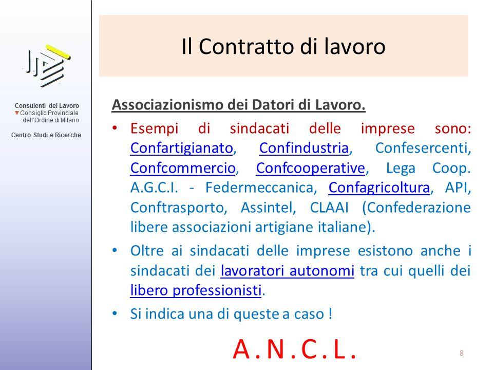 A.N.C.L. Il Contratto di lavoro Associazionismo dei Datori di Lavoro.