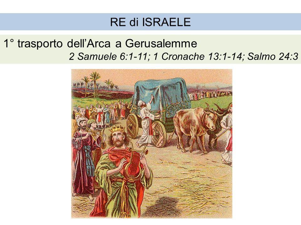 1° trasporto dell'Arca a Gerusalemme