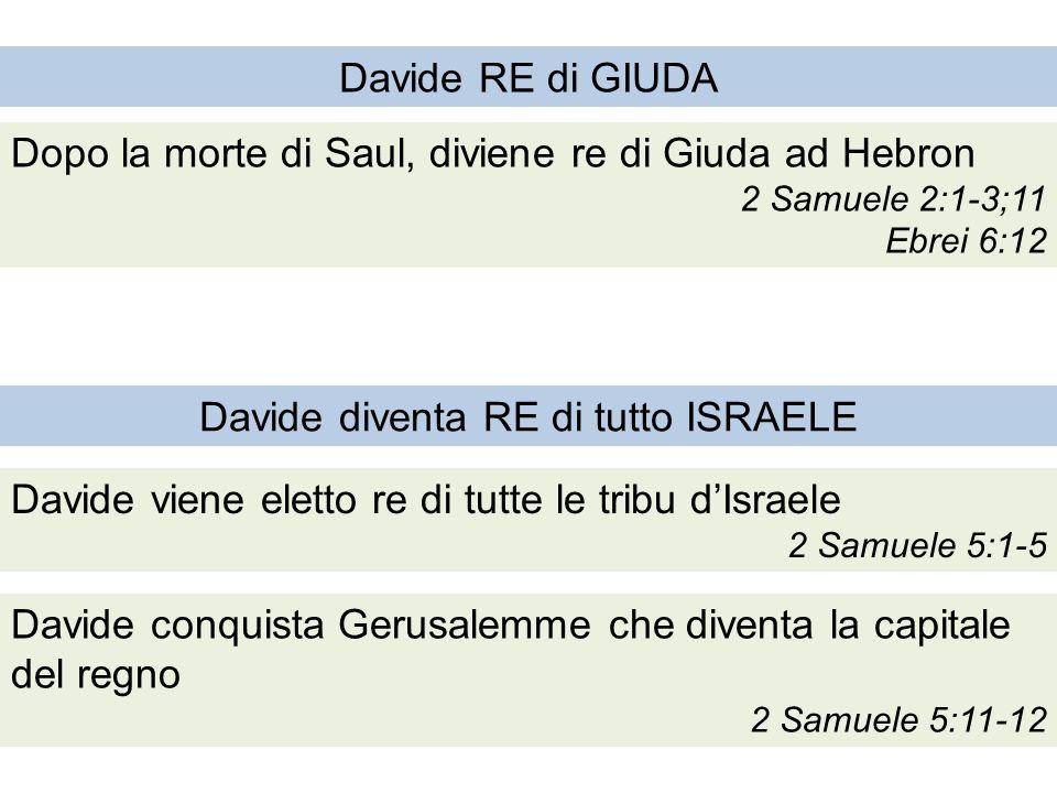 Davide diventa RE di tutto ISRAELE