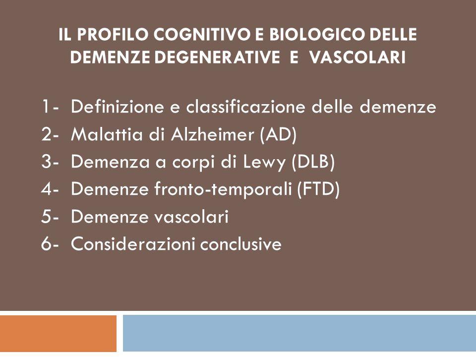 1- Definizione e classificazione delle demenze