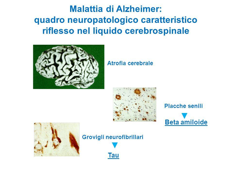 Malattia di Alzheimer: quadro neuropatologico caratteristico