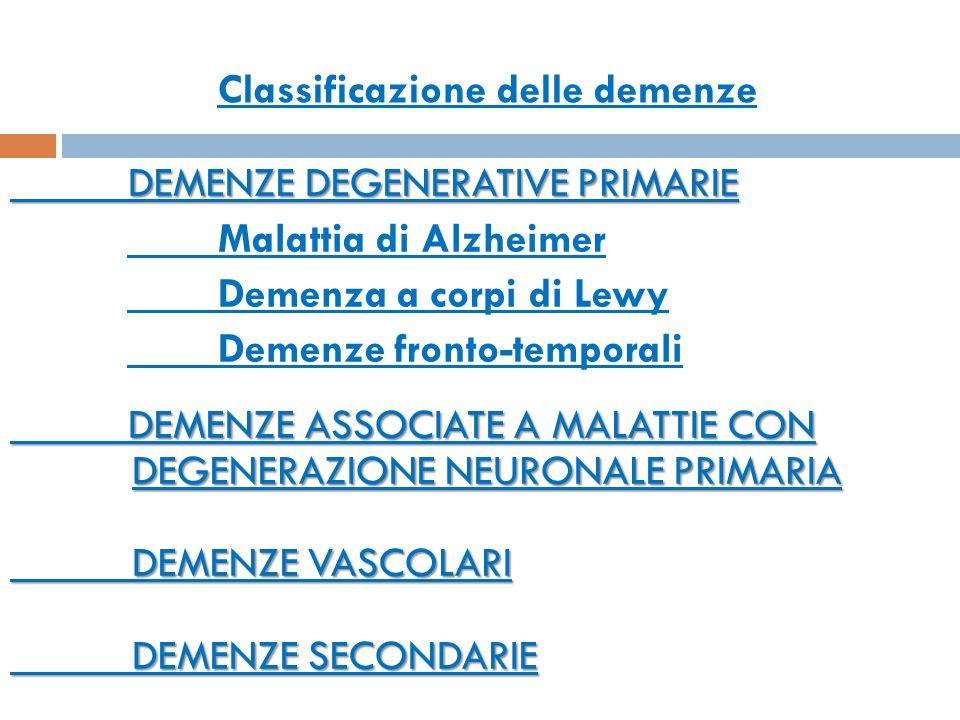 Classificazione delle demenze