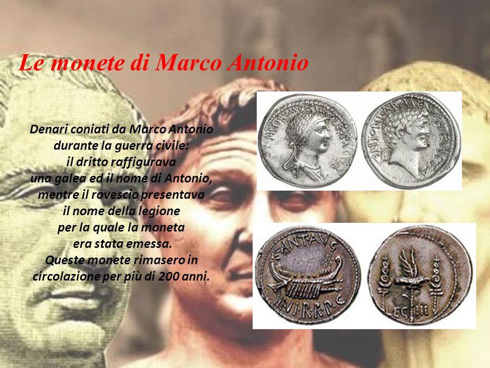 Le monete di Marco Antonio