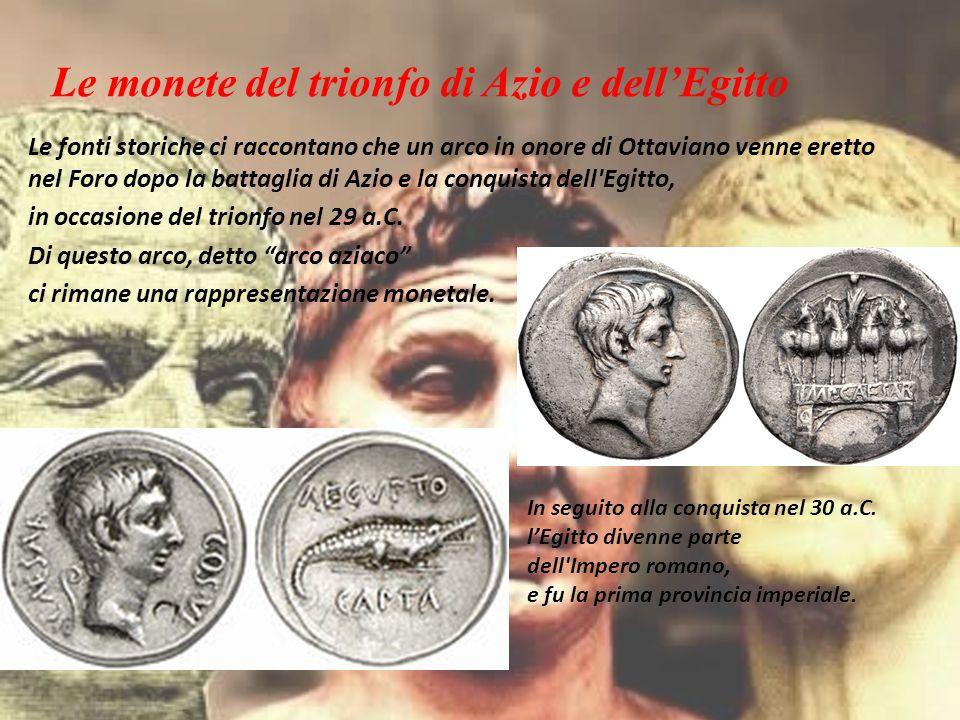 Le monete del trionfo di Azio e dell'Egitto