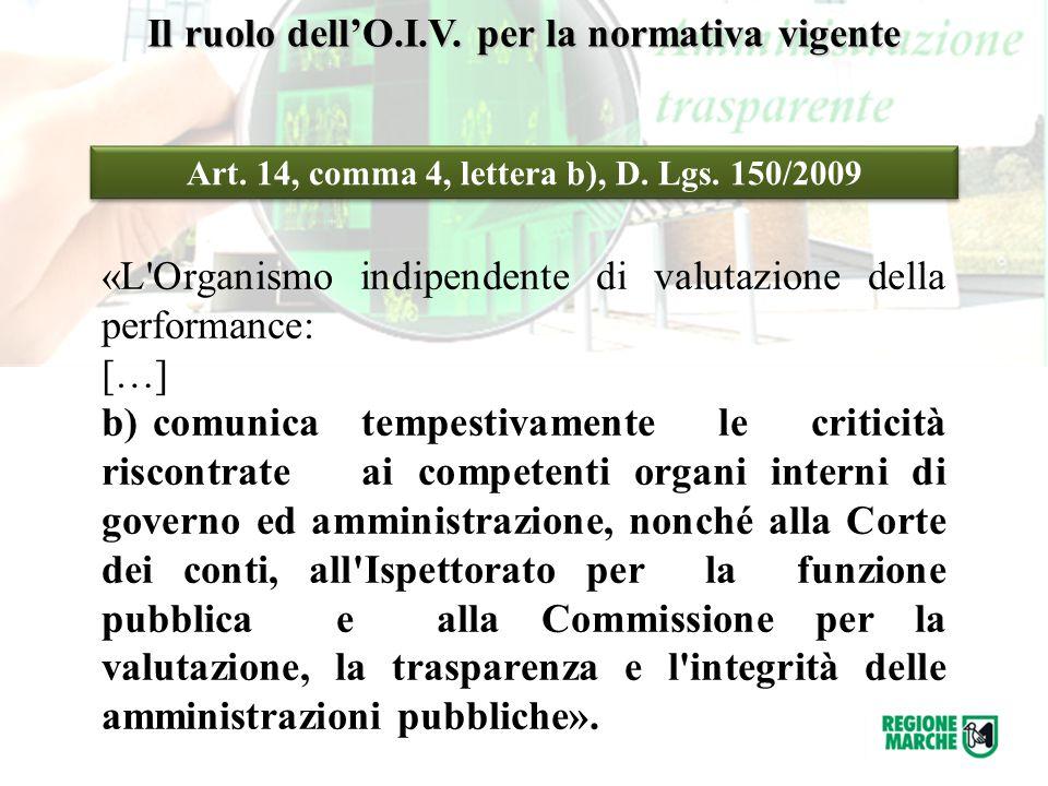 Il ruolo dell'O.I.V. per la normativa vigente