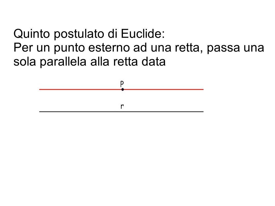 Quinto postulato di Euclide: