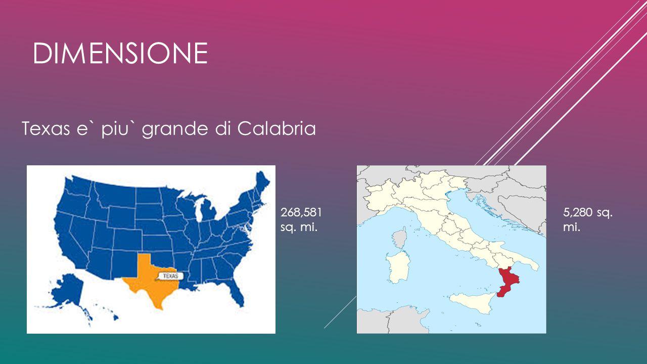 Texas e` piu` grande di Calabria