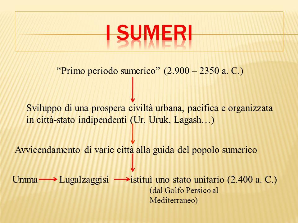 Primo periodo sumerico (2.900 – 2350 a. C.)