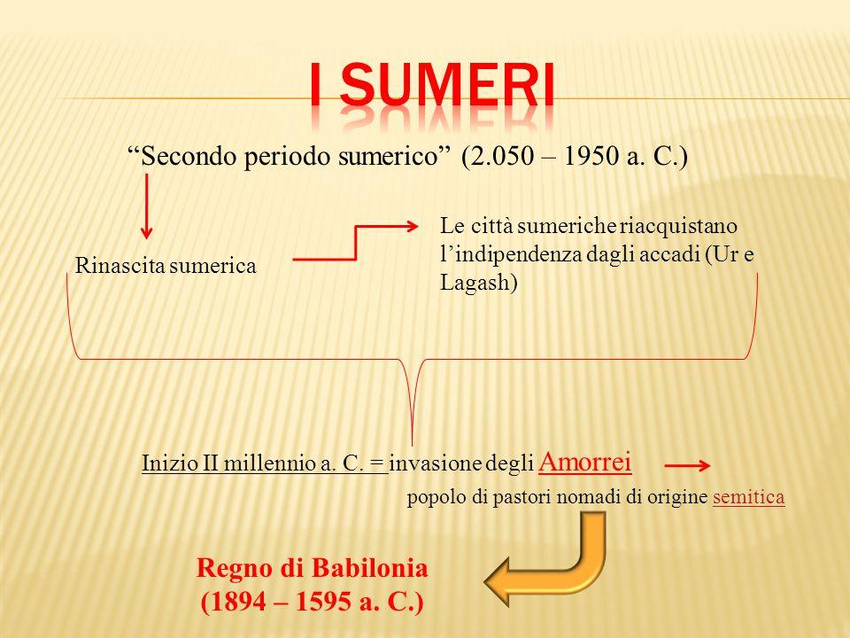 Secondo periodo sumerico (2.050 – 1950 a. C.)