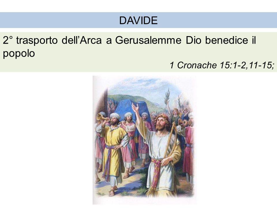 2° trasporto dell'Arca a Gerusalemme Dio benedice il popolo