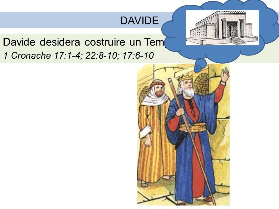 Davide desidera costruire un Tempio a Dio