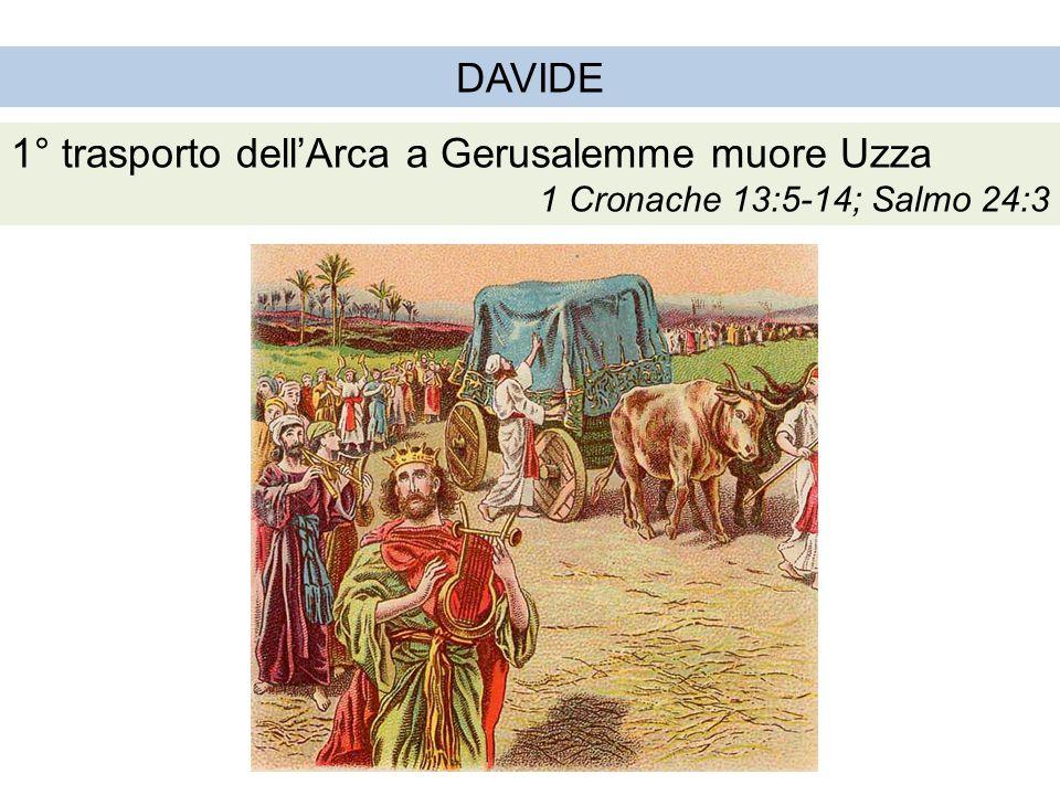 1° trasporto dell'Arca a Gerusalemme muore Uzza