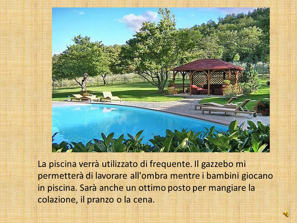 La piscina verrà utilizzato di frequente