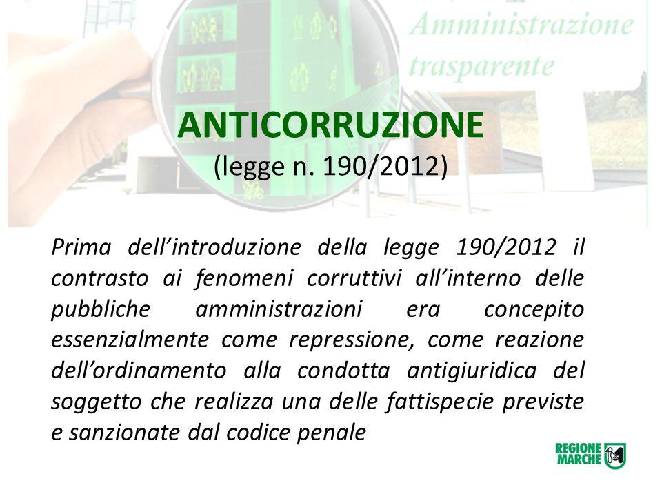 ANTICORRUZIONE (legge n. 190/2012)