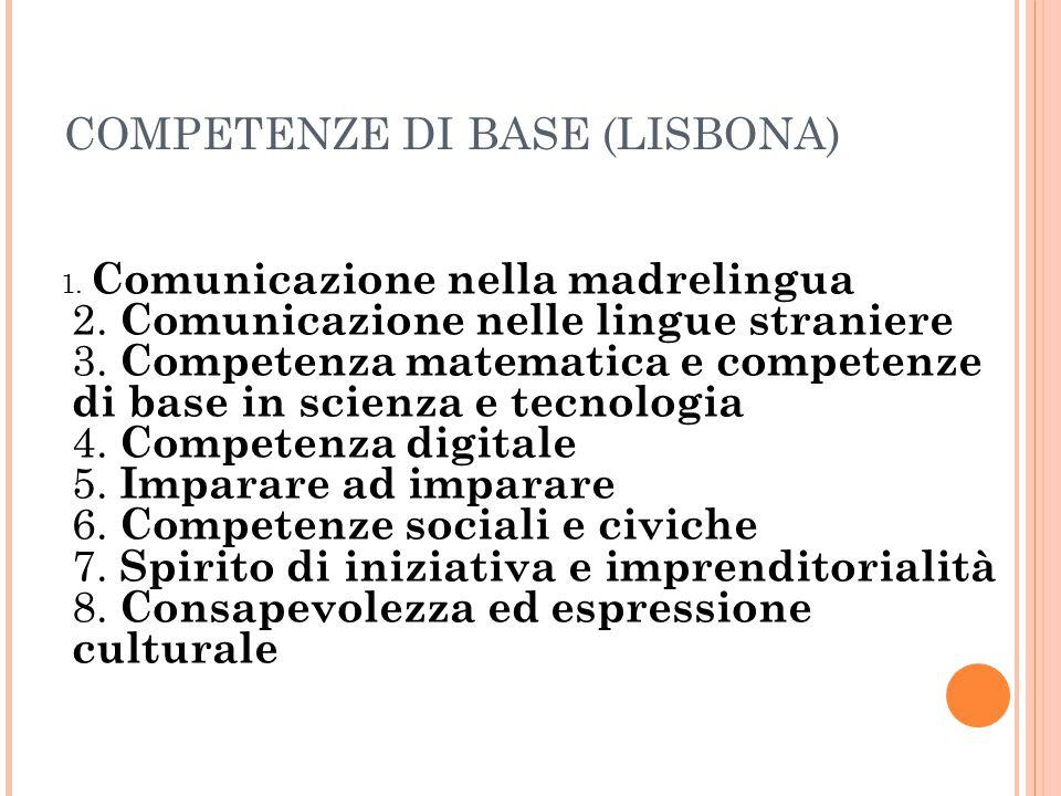 COMPETENZE DI BASE (LISBONA)