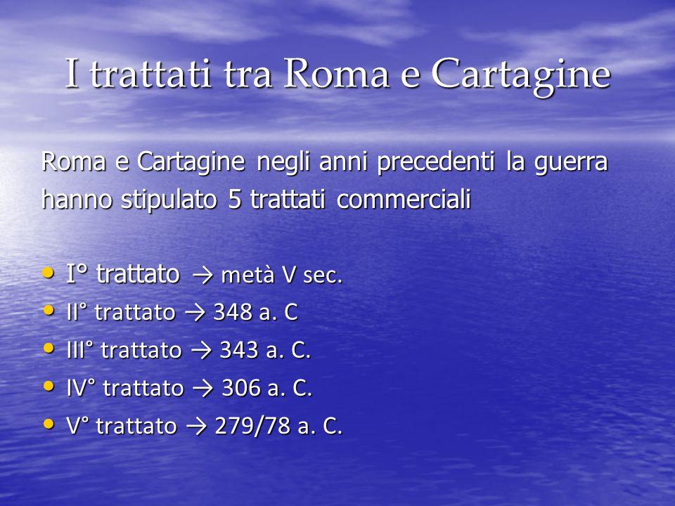 I trattati tra Roma e Cartagine