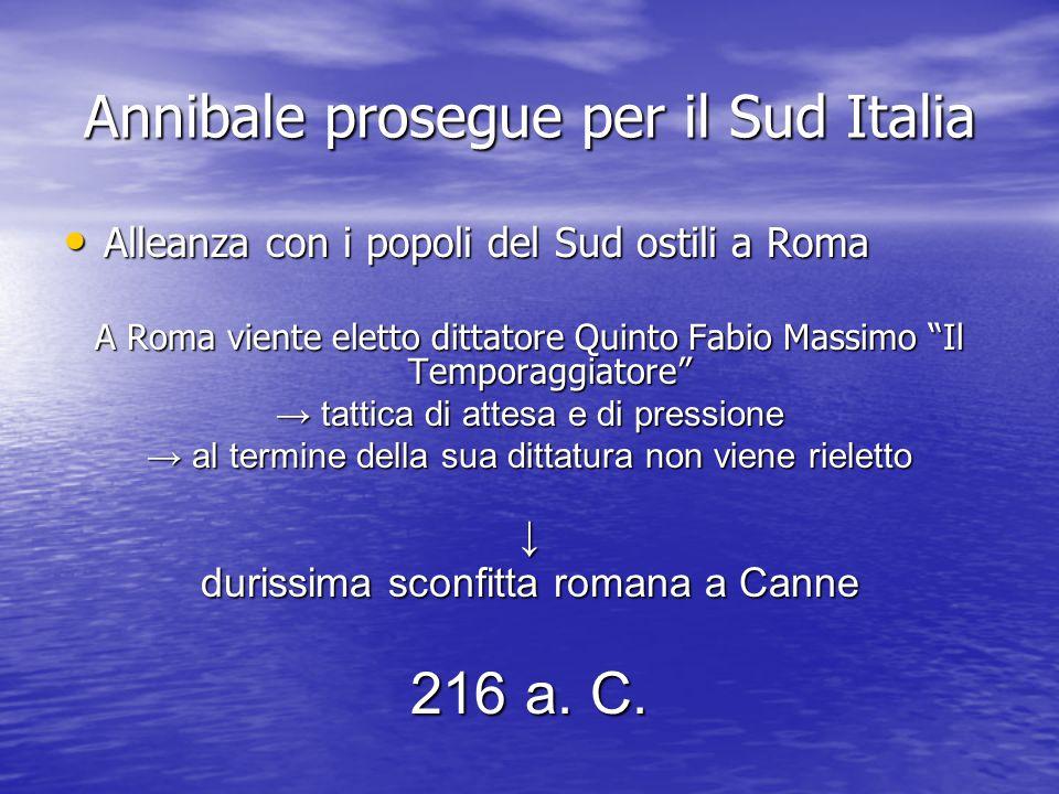 Annibale prosegue per il Sud Italia