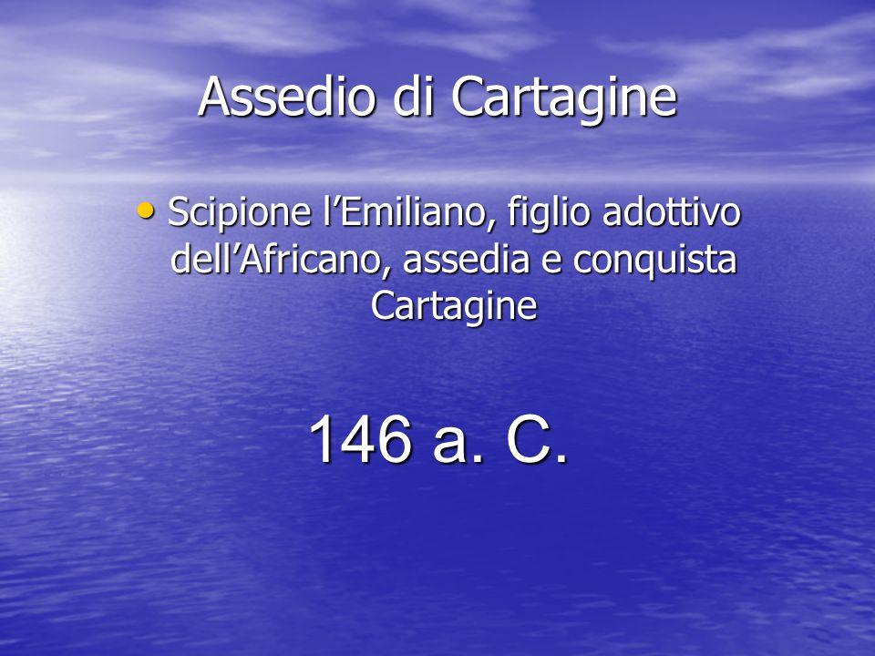 146 a. C. Assedio di Cartagine
