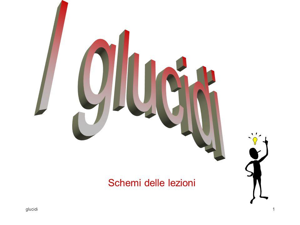 I glucidi Schemi delle lezioni glucidi