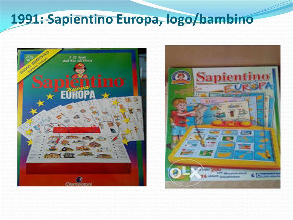 1991: Sapientino Europa, logo/bambino