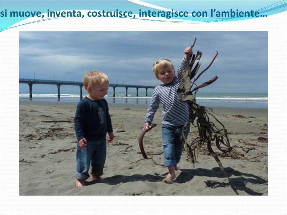 si muove, inventa, costruisce, interagisce con l'ambiente…