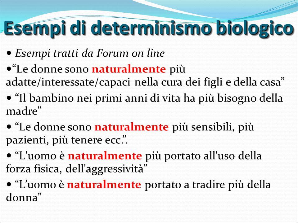 Esempi di determinismo biologico