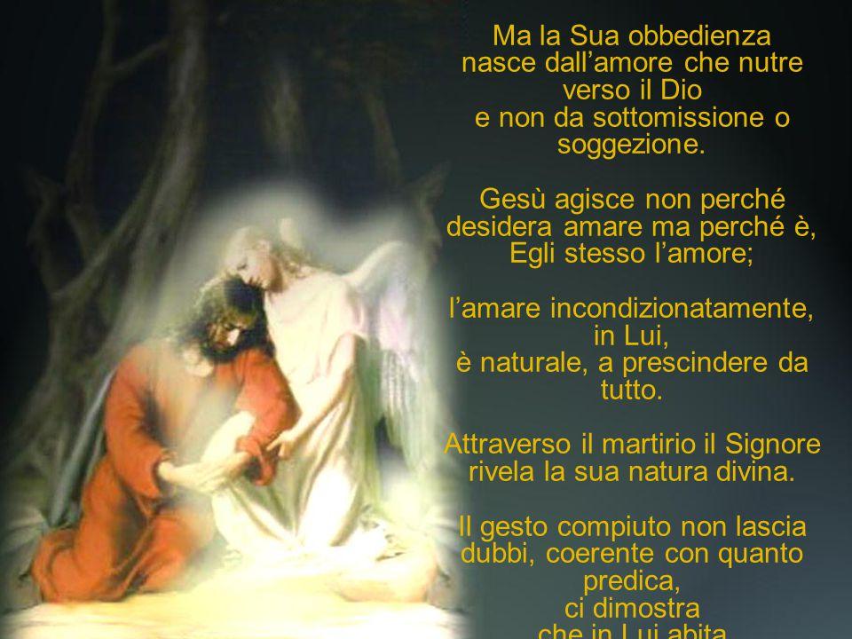 Si sacrifica obbediente al Padre; Ma la Sua obbedienza
