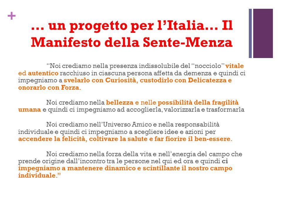 … un progetto per l'Italia… Il Manifesto della Sente-Menza