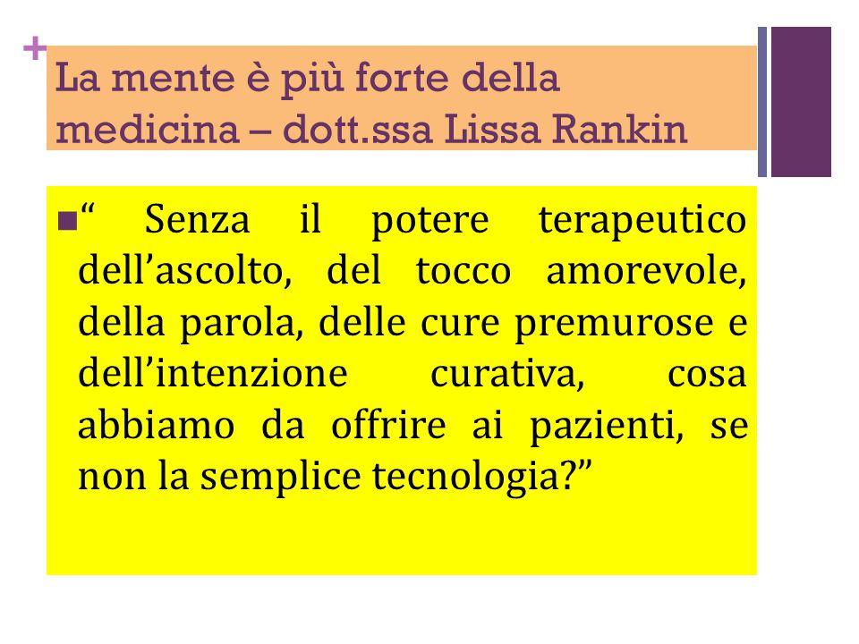 La mente è più forte della medicina – dott.ssa Lissa Rankin
