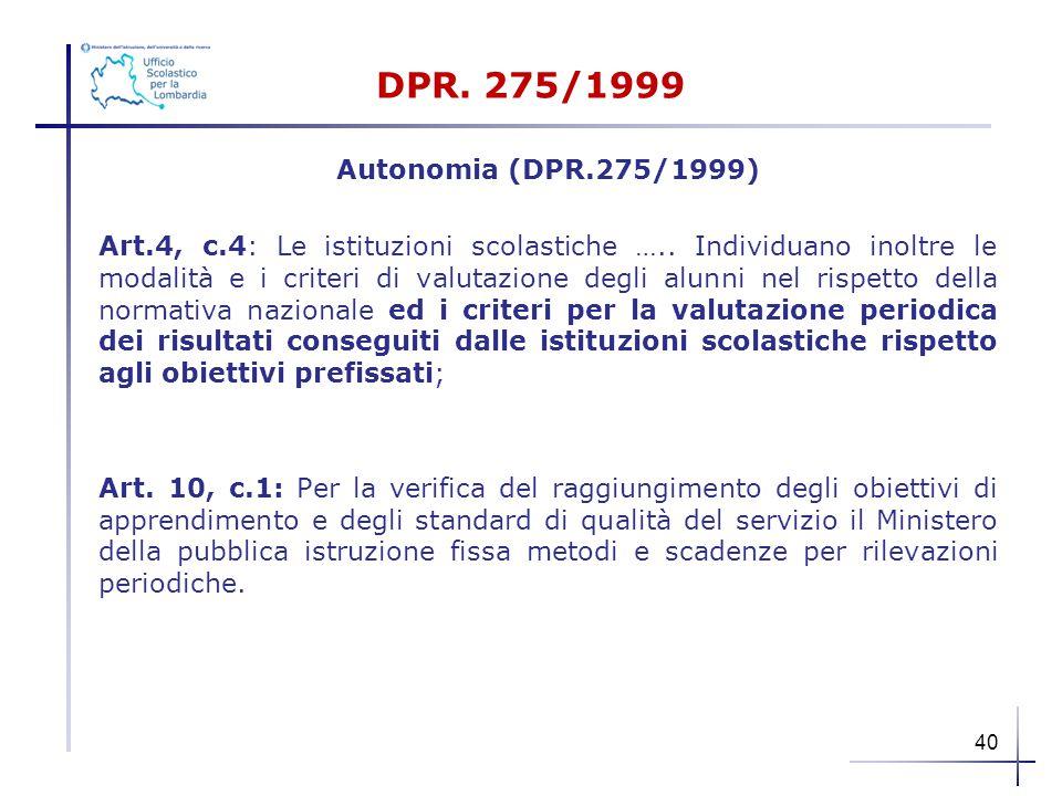 DPR. 275/1999