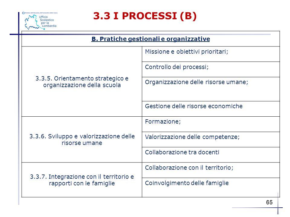 B. Pratiche gestionali e organizzative