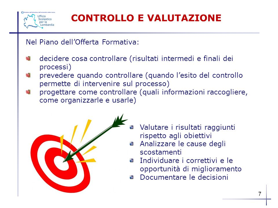 CONTROLLO E VALUTAZIONE
