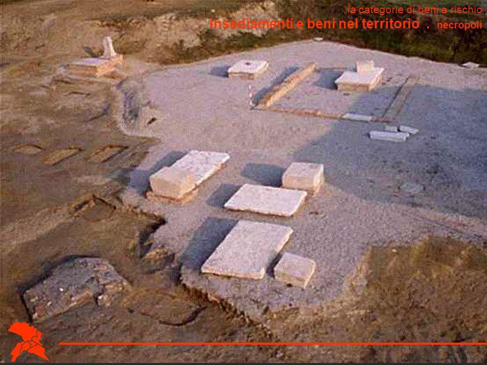 insediamenti e beni nel territorio . necropoli