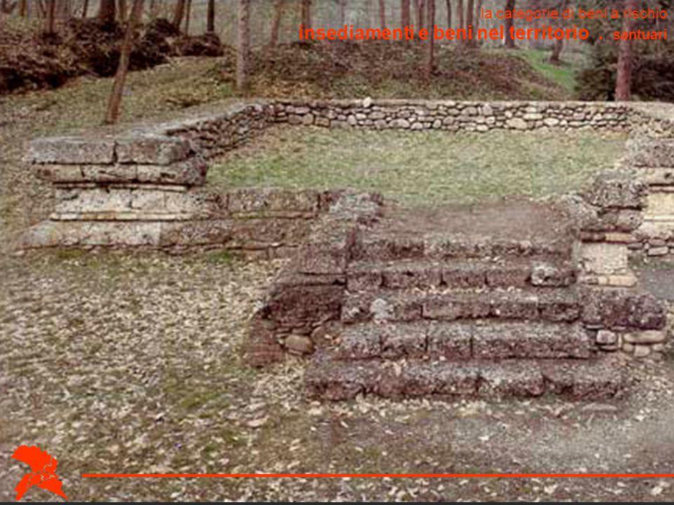 insediamenti e beni nel territorio . santuari