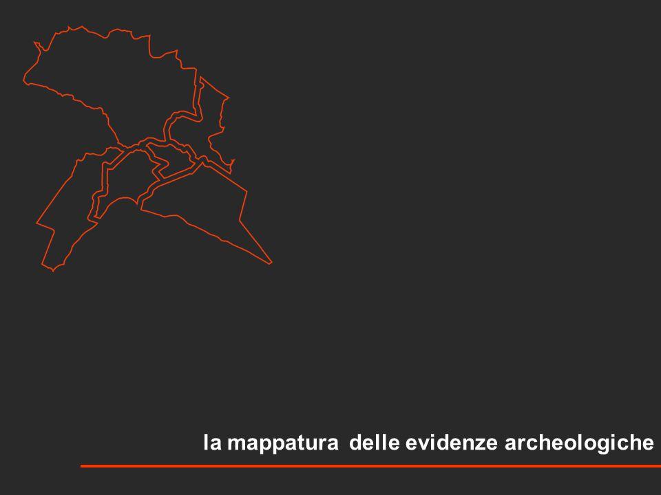 la mappatura delle evidenze archeologiche