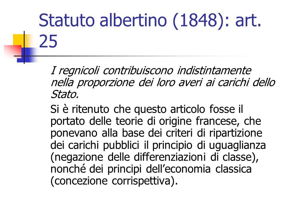 Statuto albertino (1848): art. 25