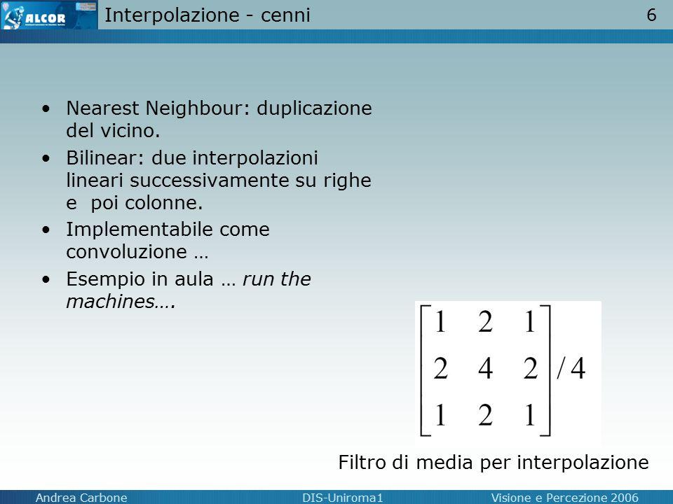 Interpolazione - cenni
