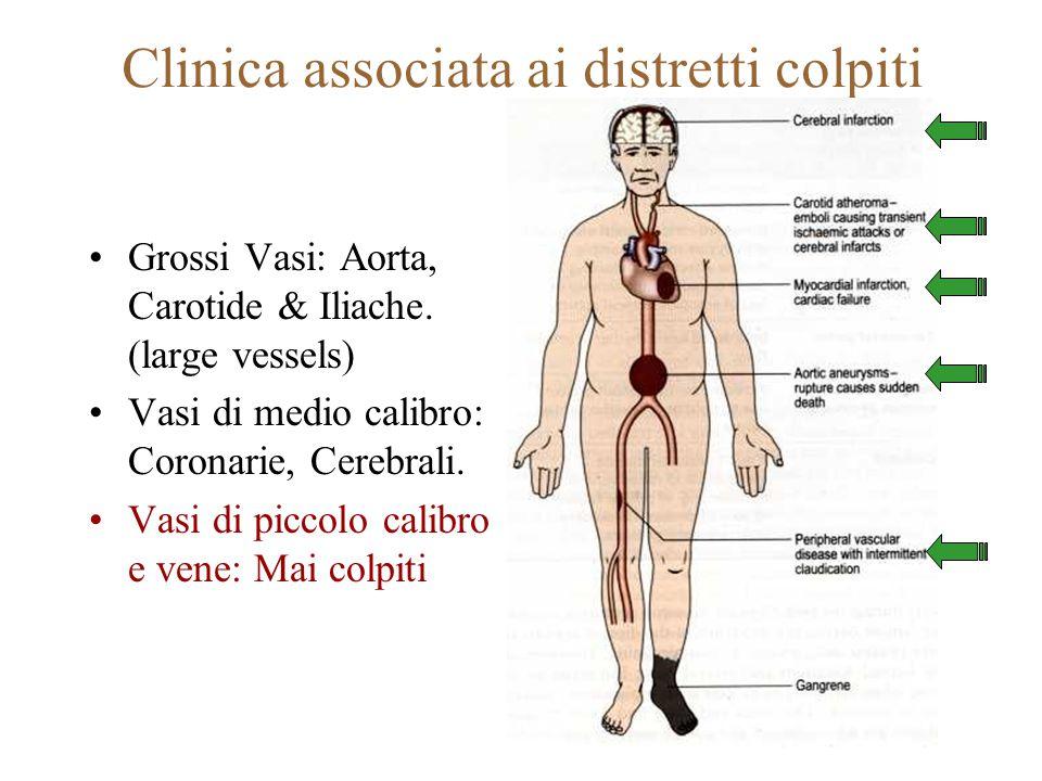 Clinica associata ai distretti colpiti