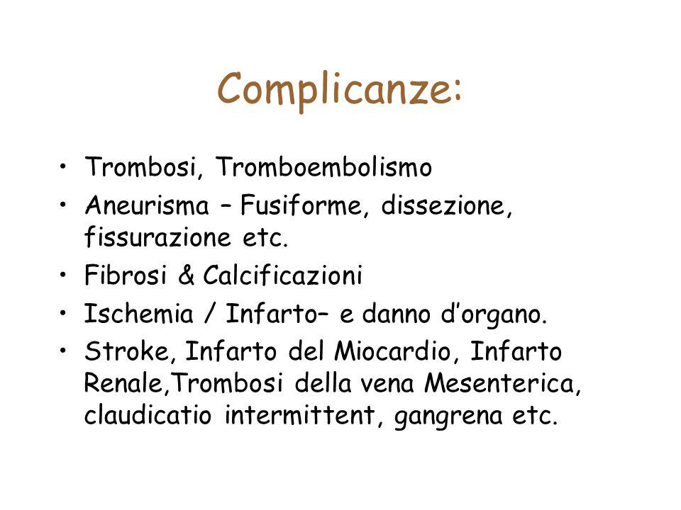 Complicanze: Trombosi, Tromboembolismo