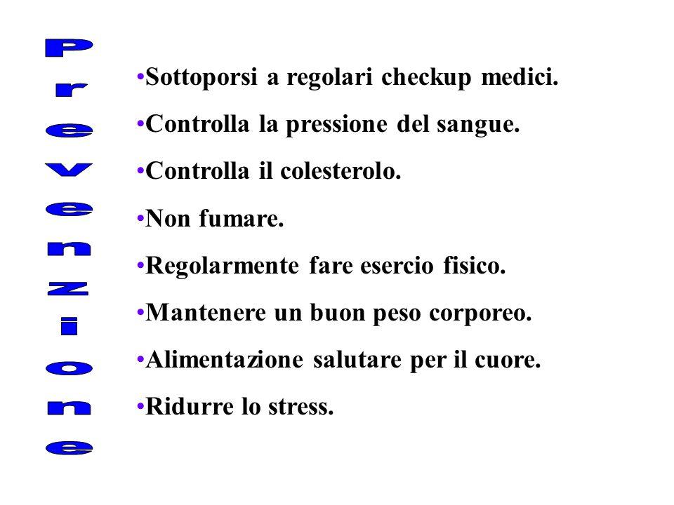 Prevenzione Sottoporsi a regolari checkup medici.