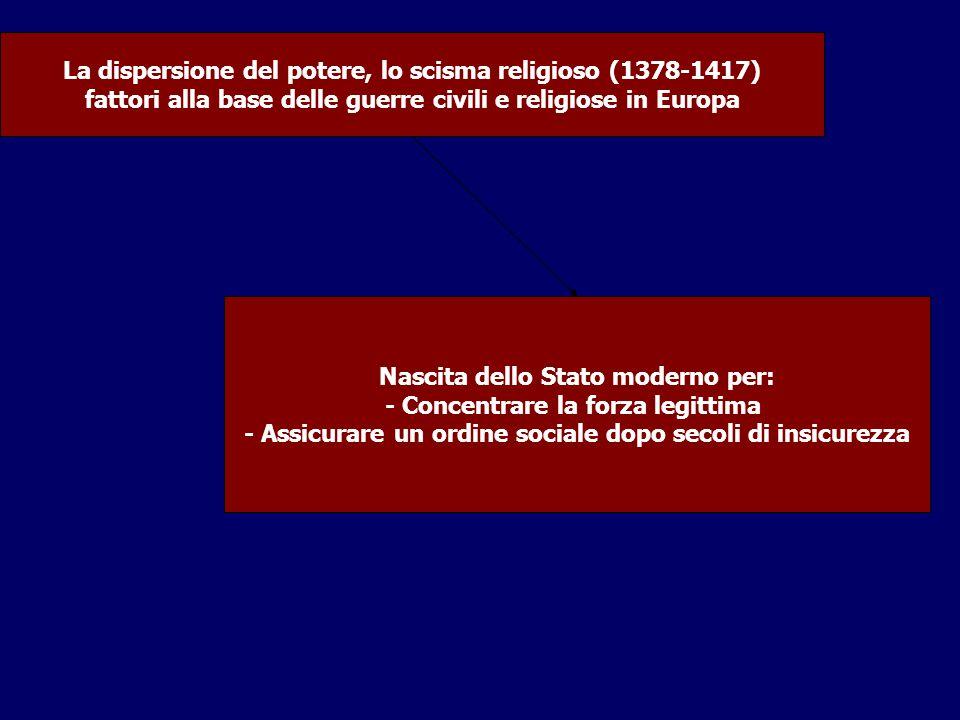 La dispersione del potere, lo scisma religioso (1378-1417)
