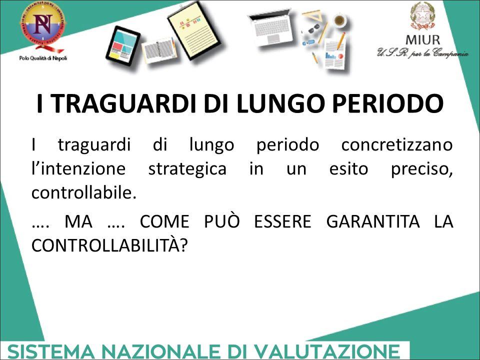 I TRAGUARDI DI LUNGO PERIODO