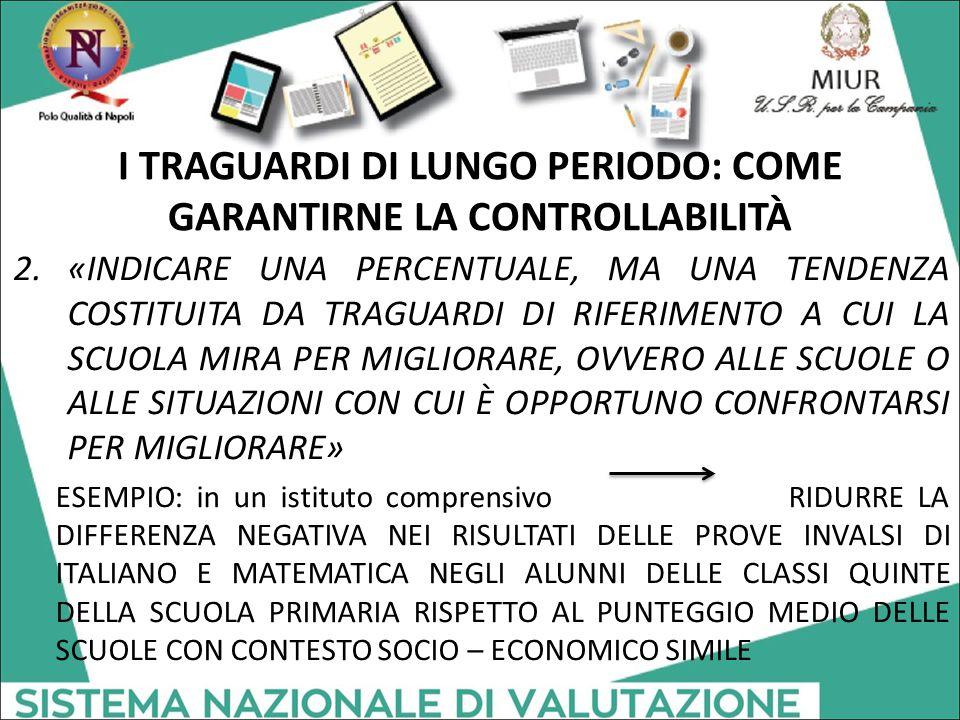 I TRAGUARDI DI LUNGO PERIODO: COME GARANTIRNE LA CONTROLLABILITÀ