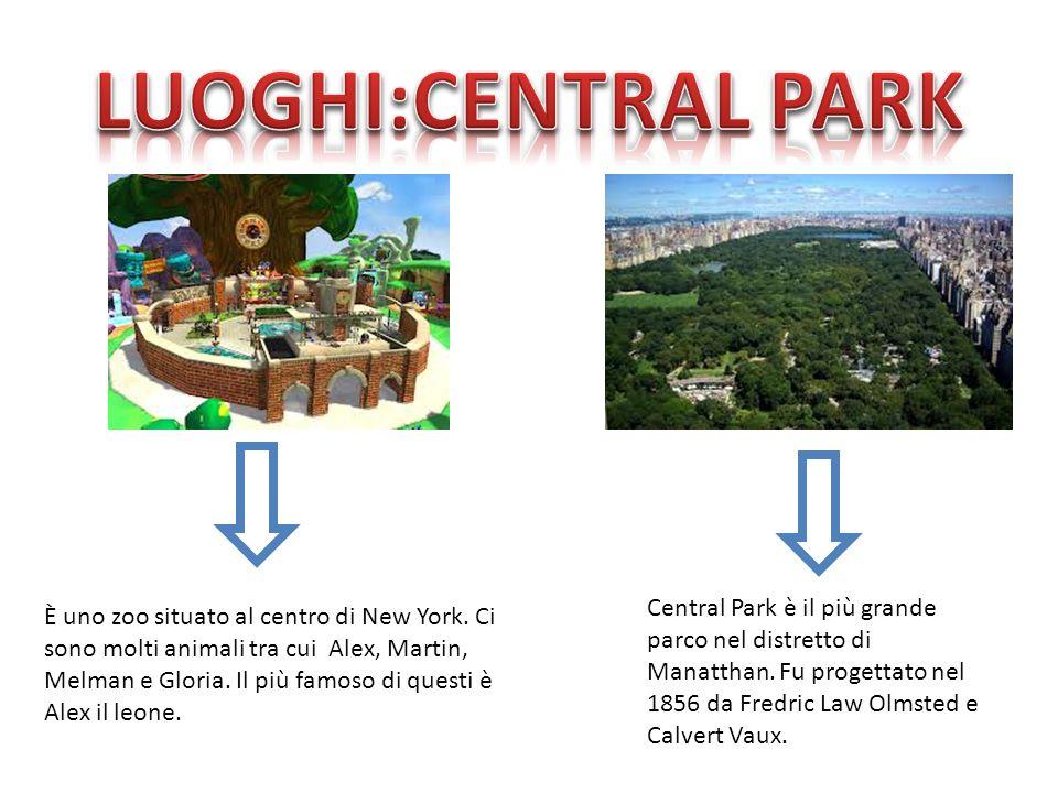 LUOGHI:CENTRAL PARK Central Park è il più grande parco nel distretto di Manatthan. Fu progettato nel 1856 da Fredric Law Olmsted e Calvert Vaux.