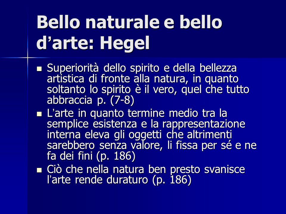 Bello naturale e bello d'arte: Hegel