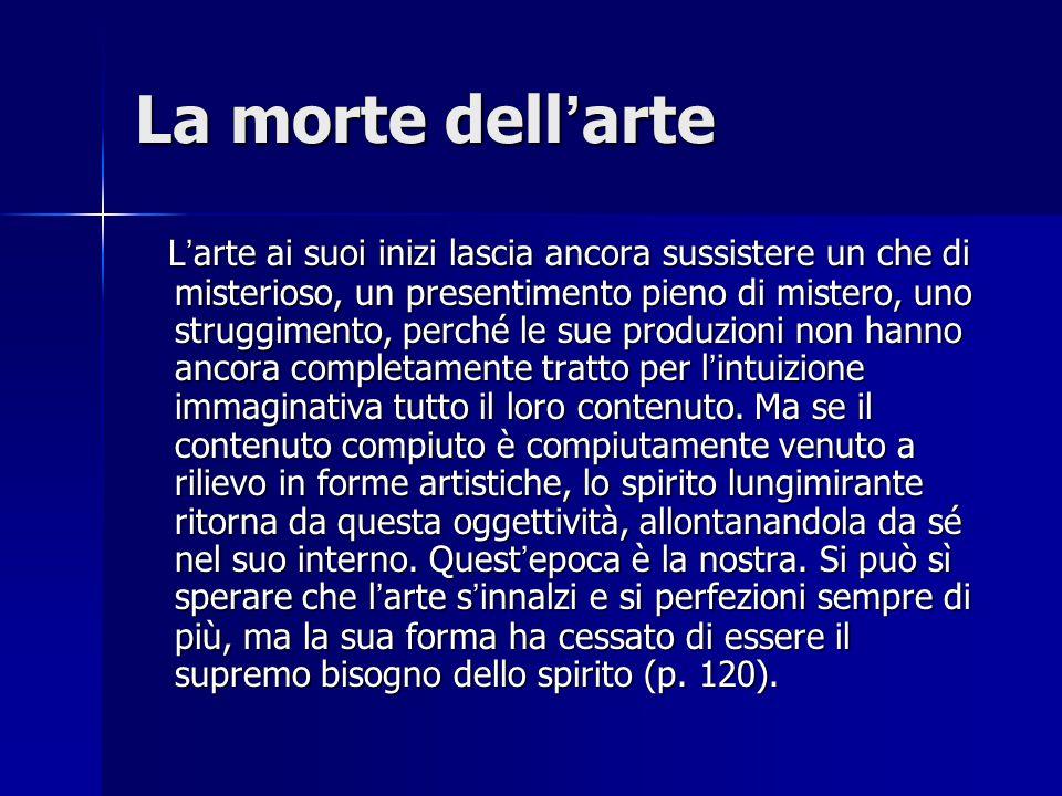 La morte dell'arte