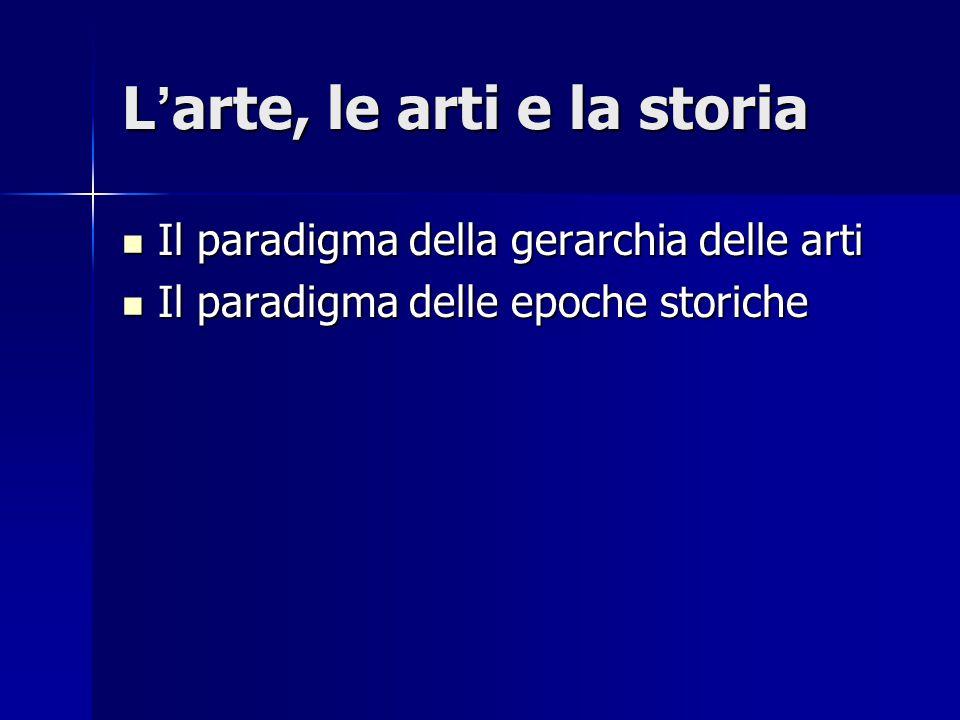 L'arte, le arti e la storia