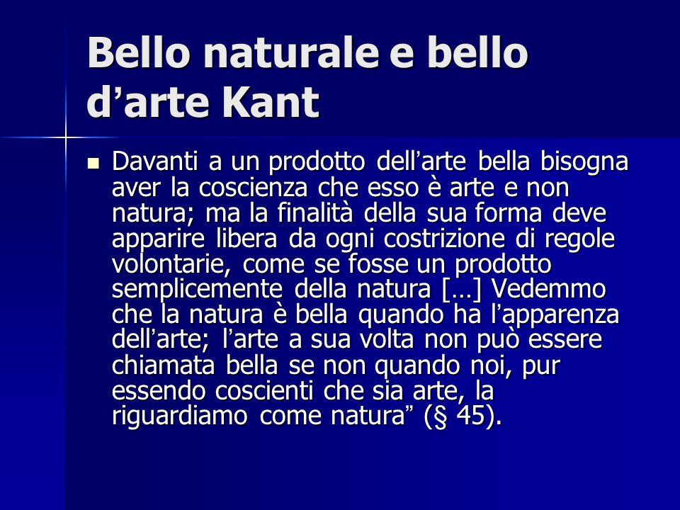 Bello naturale e bello d'arte Kant