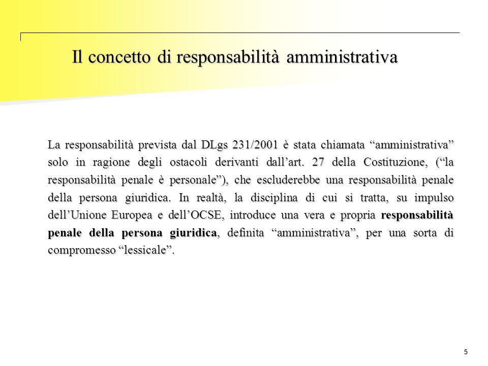 Il concetto di responsabilità amministrativa