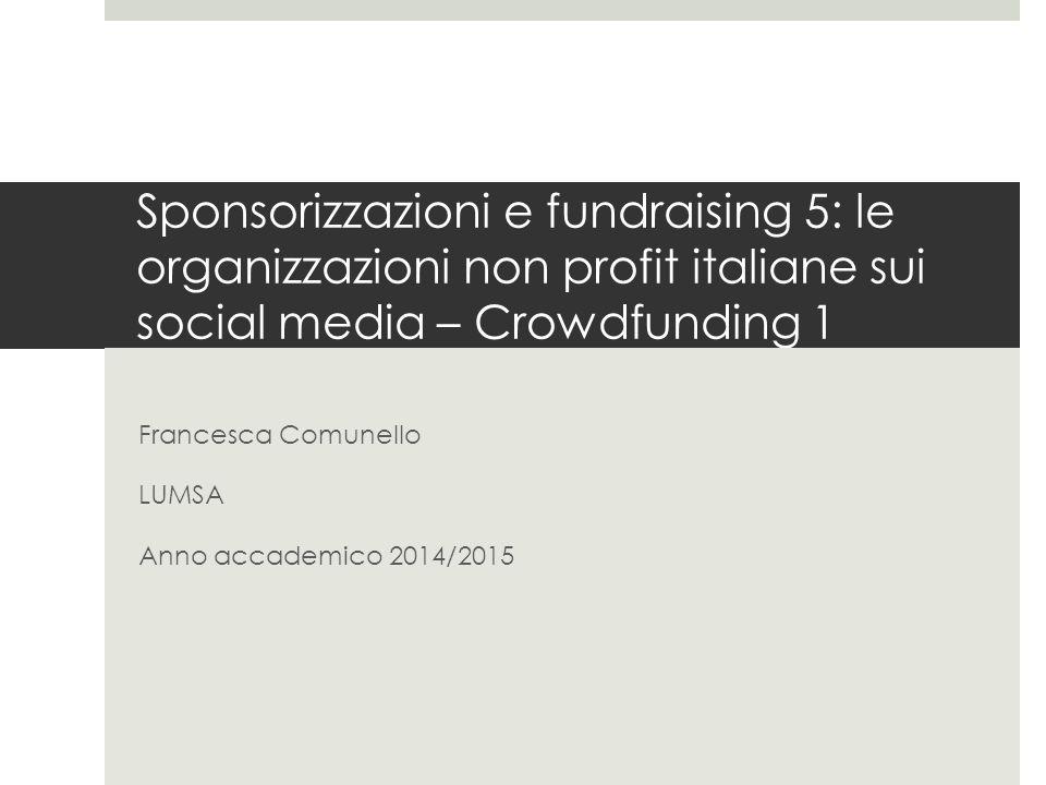 Francesca Comunello LUMSA Anno accademico 2014/2015